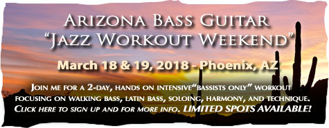 Arizona & Jazz Bass Workout